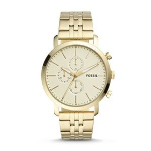 Fossil BQ2435 Luther Chronograph Gold Tone Watch